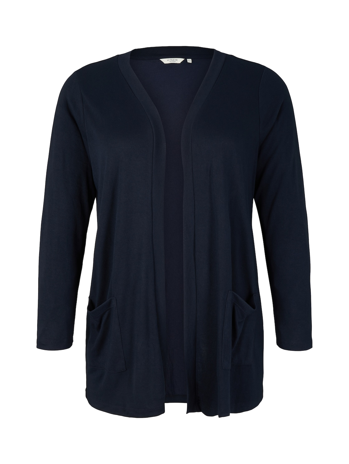 TOM TAILOR MY TRUE ME Damen Shirt Cardigan mit Taschen, blau, Gr.52 von TOM TAILOR MY TRUE ME