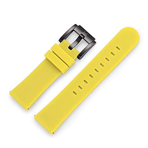 TW STEEL Kautschukschlaufe schwarz für Kautschuk-Uhrenarmbänder 20mm