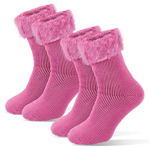 Damen Thermo Socken Winter Kuschelsocken extra warm Haussocken Yoga Tarjane®