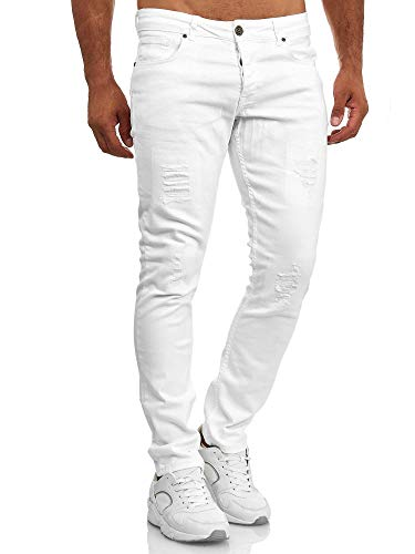 Slim Fit Herren Destroyed Look Stretch Jeans Hose Denim TAZZIO J 1001 1