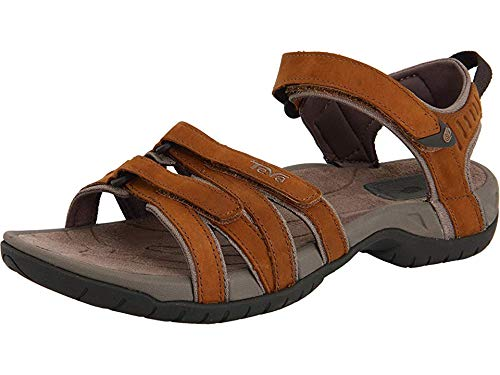 Teva Tirra Leather W's Damen Sport- & Outdoor Sandalen, Braun (rust 664), EU 37 von Teva