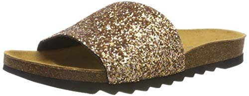 The White Brand Damen Bio Glitter Peeptoe Sandalen, Gold (Gold Gold), 40 EU von The White Brand