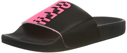 The White Brand Damen Fuck Off Peeptoe Sandalen, Pink (Neon Pink Neon Pink), 38 EU von The White Brand