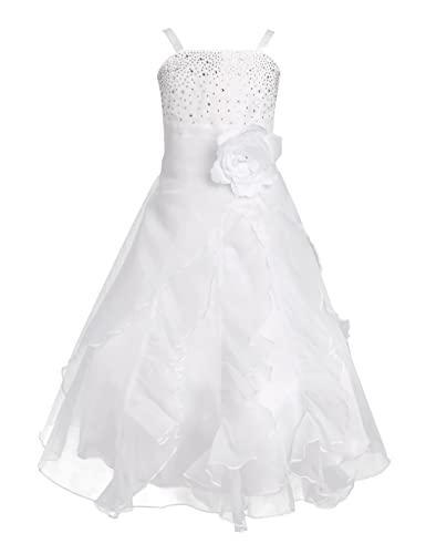 Tiaobug Blumenmädchen Festkleider Kleid Lang Brautjungfern Party Kleid  Hochzeit Festlich Kleidung 92 104 116 128 140 190cf3be30