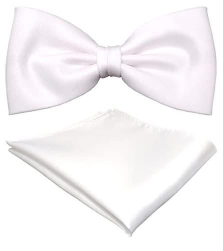 Geschenkbox vorgebundene TigerTie Satin Fliege rosa pink Uni einfarbig