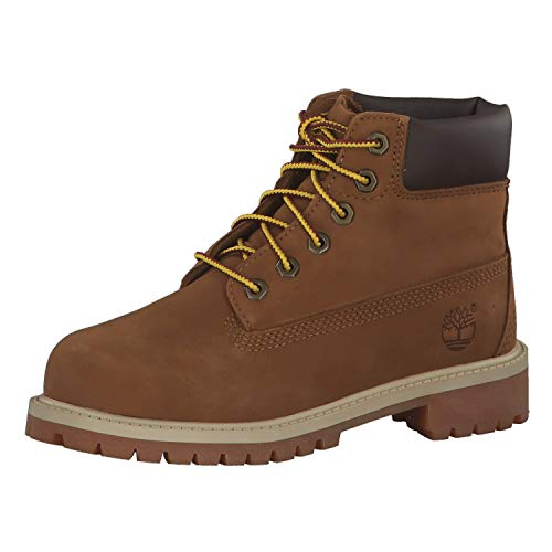 Timberland 6 In Classic Boot FTC_6 In Premium WP Boot 14749, Unisex-Kinder Stiefel, Braun (Rust Nubuck with Honey), EU 33 (US 1.5) von Timberland