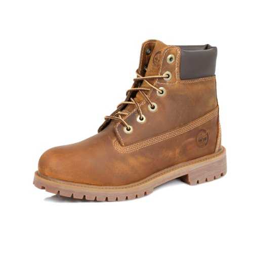 Timberland Authentics FTK 6 In WP Boot 80904, Unisex-Kinder Stiefel, Braun (Medium Brown Rust), EU 36 (US 4) von Timberland