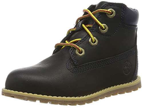 Timberland Unisex-Kinder Pokey Pine 6In Boot with Side Zip Klassische Stiefel, Blau (Navy Full Grain), 22 EU von Timberland