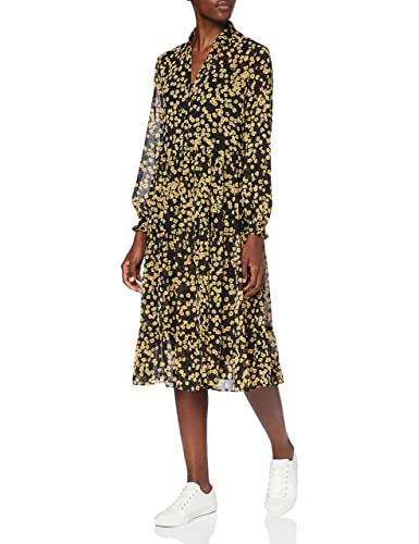 Tommy Jeans Damen Tjw Printed Midi Shirt Dress Kleid, Floral Print, XS von Tommy Jeans