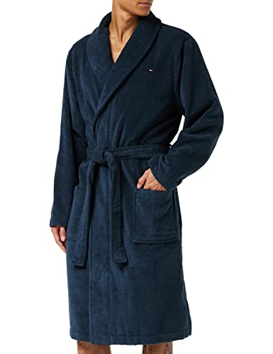 Tommy Hilfiger Herren Bademantel Icon bathrobe, Gr. Medium, Blau (NAVY BLAZER-PT 416) von Tommy Hilfiger