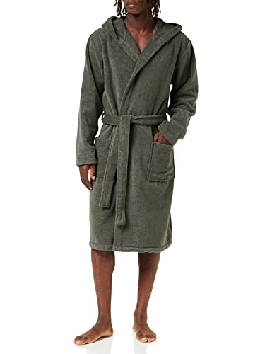 Tommy Hilfiger Herren Bademantel Icon hooded bathrobe, Gr. Small, Schwarz (MAGNET 884) von Tommy Hilfiger