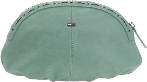 Hilfiger Denim Romy Make UP CASE EL56919171, Damen Kosmetiktäschchen, Grün (Pool Green 315), 24x16x2 cm (B x H x T) von Tommy Jeans