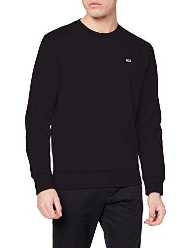 Tommy Jeans Herren TJM Regular Fleece C Neck Pullover, Schwarz, XL von Tommy Jeans