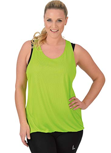 Trigema Damen Tank Top Coolmax, Grün (Lemon 271), Medium von Trigema