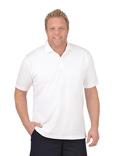 Trigema Herren Regular Fit Poloshirts Business - Polo - Shirt 627608,Weiß (weiss 001),Large von Trigema