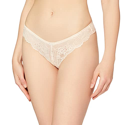 Triumph Damen Tempting Lace Braz String, Beige (Orange Highlight 5B), Gr. 44 (Herstellergröße: L (44/46) ) von Triumph