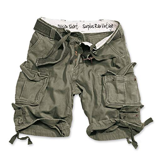 Trooper Division Shorts Lightning Edition Oliv - L von Trooper