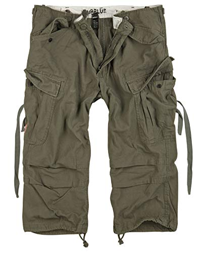 Trooper Engineer 3/4 Shorts Lightning Edition Olive gewaschen - S von Trooper