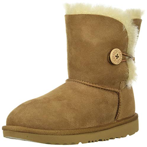 UGG Kids K Bailey Button II Fashion Stiefel, Braun, 33.5 EU von UGG Australia