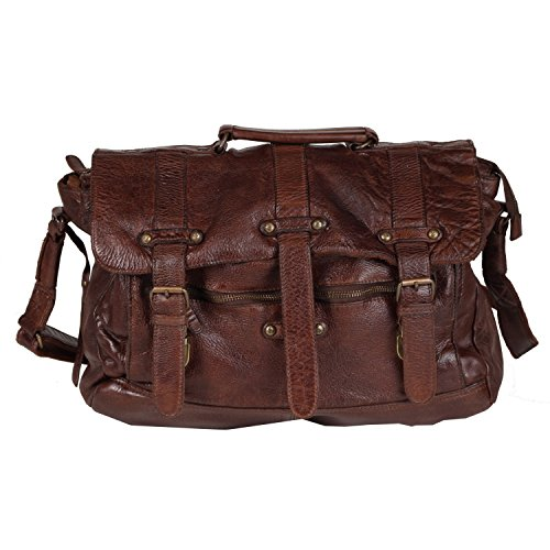 BILLY THE KID Daytona Messenger Bag Leder 38 cm von Unbekannt