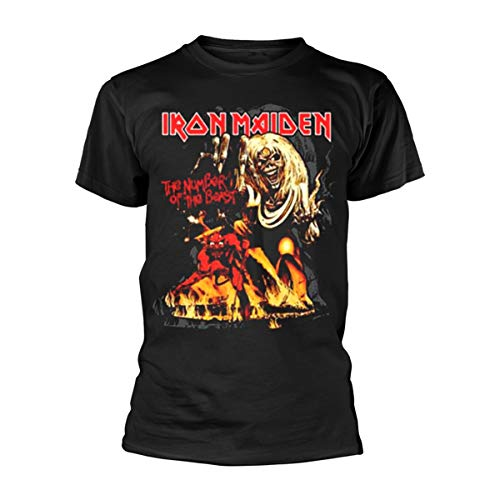 Collectors Mine Herren T-Shirt Iron Maiden-Number of the Beast Graphic, Schwarz (Schwarz), M von Unbekannt