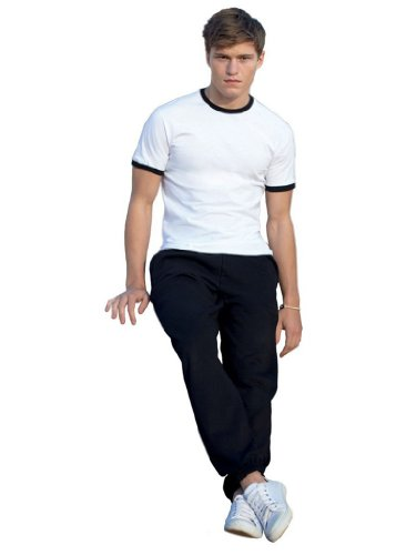 JOGGINGHOSE ELAST BUND FRUIT OF THE LOOM S M L XL XXL S,Black von Unbekannt