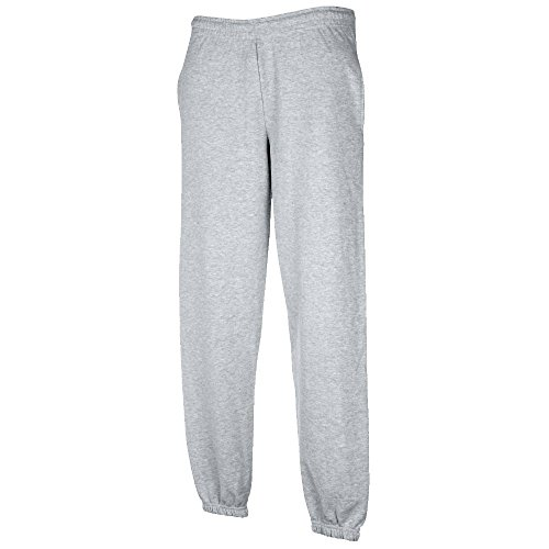 JOGGINGHOSE ELAST BUND FRUIT OF THE LOOM S M L XL XXL XXL,Heather Grey von Unbekannt