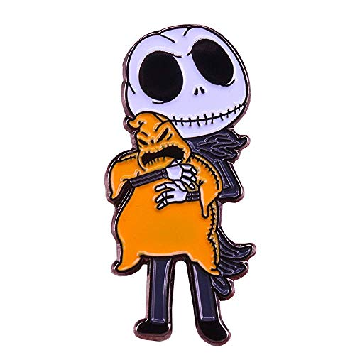 Nightmare Before Christmas Anstecker Emaille Jack Skellington & Oogie Boogie 3 cm von Unbekannt