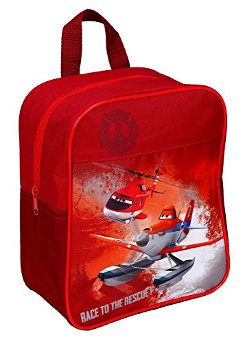 Undercover 10002157 Kinder-Rucksack Planes Fire and Rescue, 22 x 26 x 11 cm, rot von Undercover