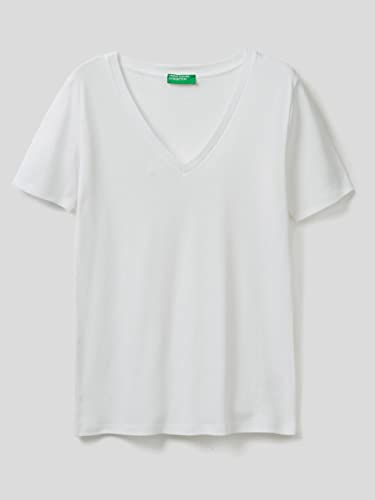 United Colors of Benetton Damen T-Shirt Pullunder, Weiß (Bianco 101), X-Small von United Colors of Benetton