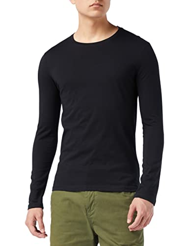 United Colors of Benetton Herren T-Shirt L/s Pullunder, Schwarz (Nero 100), One Size (Herstellergröße: X-Small) von United Colors of Benetton