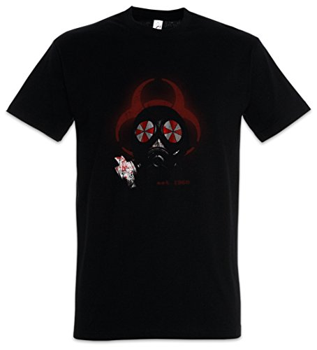 Urban Backwoods Gas Mask Biohazard Umbrella Herren T-Shirt Schwarz Größe 5XL von Urban Backwoods