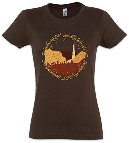 Urban Backwoods Ring Fellowship Damen T-Shirt Braun Größe L von Urban Backwoods