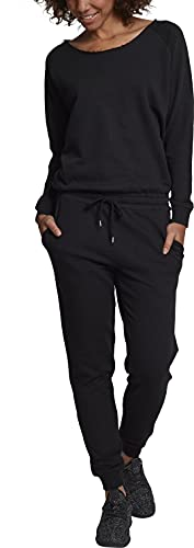 Urban Classics Damen Jumpsuit Ladies Long Sleeve Terry, Schwarz (Black 00007), Large von Urban Classics