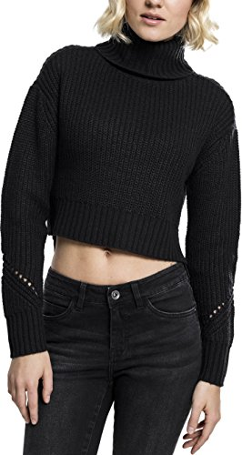 Urban Classics Damen Ladies Hilo Turtleneck Sweater Rollkragenpullover, Black, M von Urban Classics