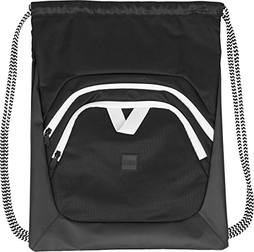 Urban Classics Ball Gym Bag Turnbeutel, 45 cm, Black/White von Urban Classics