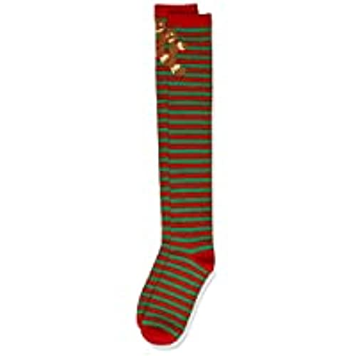 Urban Classics Damen Christmas Overknees Socken, red/Green, 35-38 von Urban Classics