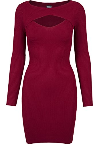 Urban Classics Damen Kleid Ladies Cut Out Dress, Rot (Burgundy 606), Medium von Urban Classics