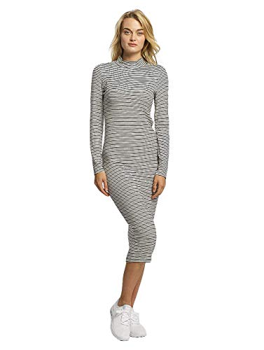 Urban Classics Damen Kleid Ladies Striped Turtleneck Dress, Mehrfarbig (Black/White 826), Small von Urban Classics