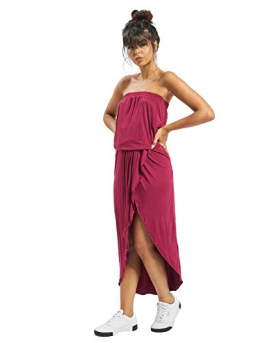 Urban Classics Damen Kleid Ladies Viscose Bandeau Dress Burgundy M von Urban Classics