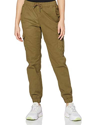 Urban Classics Damen Ladies High Waist Cargo Jogging Pants Freizeithose, summerolive, S von Urban Classics