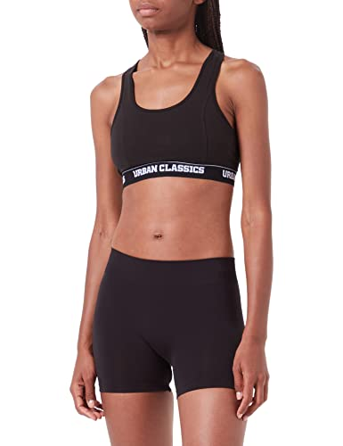 Urban Classics Damen Ladies Logo Bra Sport Tank Top, Schwarz, Medium von Urban Classics