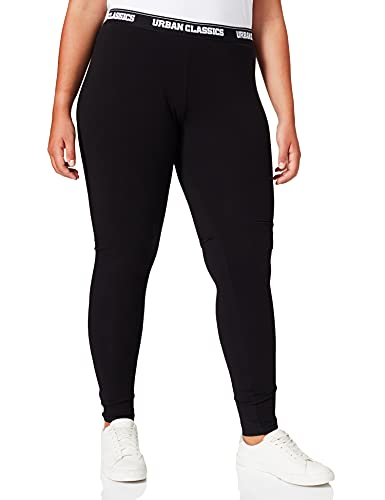 Urban Classics Damen Ladies Logo Leggings, Black, 4XL von Urban Classics