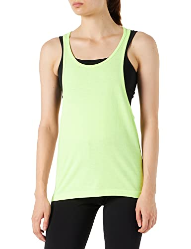 Urban Classics TB462 Damen Sport T-Shirt Ladies Loose Burnout Tanktop gelb (Neonyellow) Large von Urban Classics