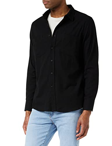 Urban Classics TB297 Herren Regular Fit Freizeit Hemd Checked Flanell Shirt, Gr. Kragenweite: 47 cm (Herstellergröße: XXL), Schwarz (blk/blk 17) von Urban Classics