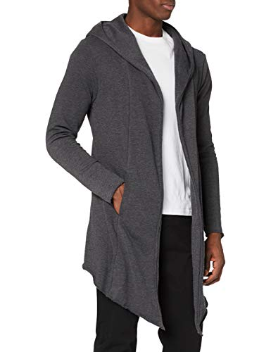 Urban Classics TB1389 Herren Strickjacke Long Hooded Open Edge Cardigan, Gr. Large, Grau (charcoal 91) von Urban Classics