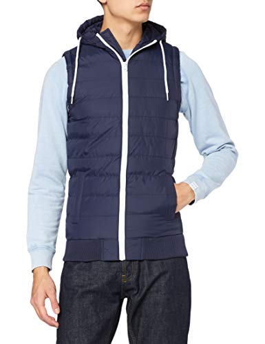 Urban Classics Small Bubble Hooded Vest Weste Navy, S von Urban Classics