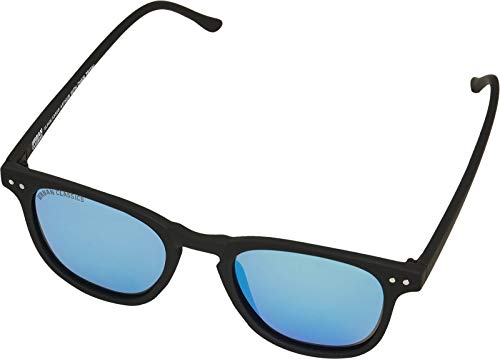 Urban Classics Unisex Sunglasses Arthur with Chain Sonnenbrille, Black/Blue, one Size von Urban Classics