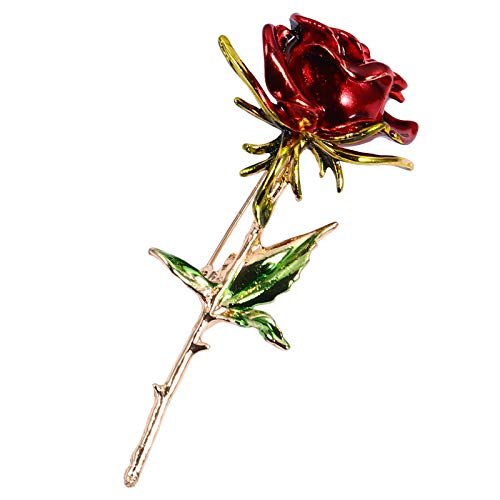 VALICLUD Stylish 1 Pc Alloy Rose Shape Jewelry Supply Brooch Dekorative Kleid Corsage von VALICLUD