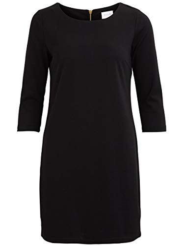 Vila Damen Kleid Vitinny New Dress, Schwarz (Black), S von Vila